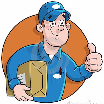 courier clipart