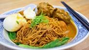 咖喱干捞面 (Dried Tossed Noodles with Curry)