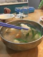 咸菜鱼片汤
