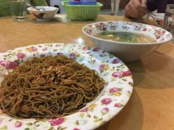 干捞面配馄炖汤