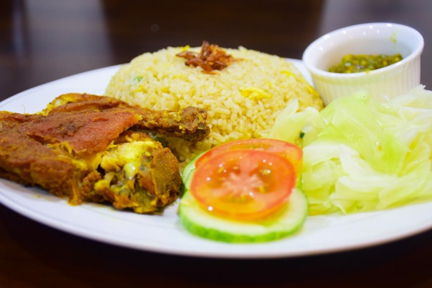 Nasi Penyet with fried rice